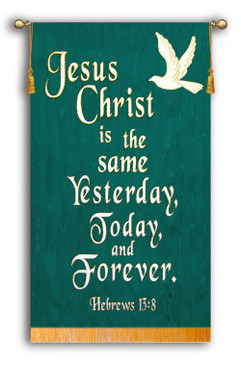 SALE BANNER - Jesus Christ is the same teal - 4' x 30""