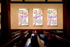 3 Banner Set - Easter2011- Messiah - Lord - Redeemer