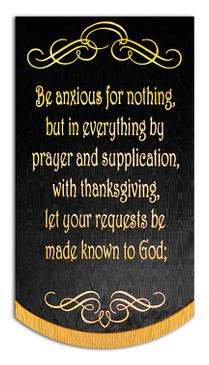 """BE ANXIOUS FOR NOTHING - PHIL-4:6-7 - A - Sale Banner - 7' x 48"""""""