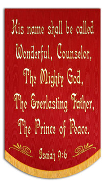 HIS NAME SHALL BE CALLED WONDERFUL - ISAIAH 9:6 - Sale Banner - 7' x 48""