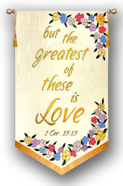 but the greatest of these is Love - Church Wedding Banner Set