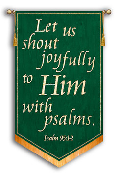 SALE BANNER - LET US SHOUT JOYFULLY TO HIM - 5'x36""