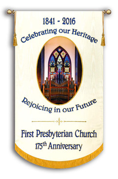 Example - 1st Presbyterian Anniversary - Customized Photo Banner