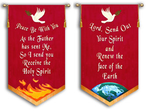Peace Be With You + Lord Send out Your Spirit - 2 Banner SET