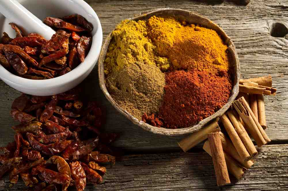 Raw Curry Spices