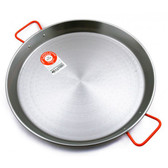 Garcima 46cm Polished Steel Paella Pan