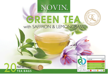 Novin Green Tea with Saffron and Lemongrass