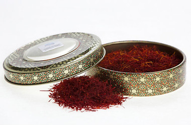 8g Novin Saffron in Traditional Painted Metal Tin