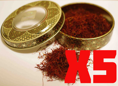 Novin Saffron 8g in Traditional Painted Metal Tin.  It really is as good as it looks !