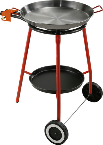 Garcima 400mm Wheelie Paella Burner with 46cm Pan