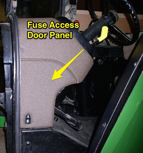 Fuse Box Access Door : Fuse access door panel john deere