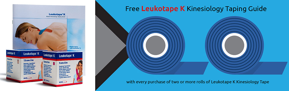 Free Leukotape K Taping Guide Promo at Physical Sports First Aid