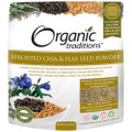 Organic Traditions Sprouted Chia/Flax Seed Powder 16 oz (454g)