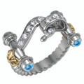 Santa Maria Elite Pave' hook ring