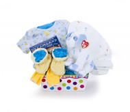 Sweet Pea Baby Boy Gift Basket