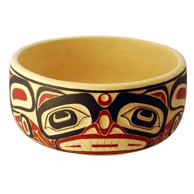 Bear Potlatch Bowl - Deluxe Round
