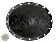 """Eagle/Salmon Plate - 9"""" Oval"""