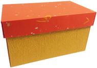 Yellow washi paper box with orange washi paper lid.