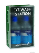 Buy Double Eyewash Station, Clear Front (REL902) sold by eSuppliesMedical.co.uk