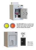 Buy Controlled Drug Cabinet with 1 Shelf, 1 Door - 36cm(H) x 21cm(W) x 27cm(D) - With Warning Light (SUN-CDC21/WL) sold by eSuppliesMedical.co.uk