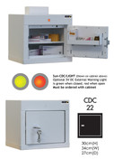 Buy Controlled Drug Cabinet with 1 Shelf/1 Tray, 1 Door - 36cm(H) x 34cm(W) x 27cm(D) - With Warning Light (SUN-CDC22/WL) sold by eSuppliesMedical.co.uk