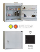 Buy Controlled Drug Cabinet with 2 Shelves/2 Trays, 1 Door - 60cm(H) x 60cm(W) x 30cm(D) - No Warning Light (SUN-CDC25/NL) sold by eSuppliesMedical.co.uk