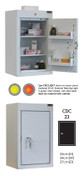 Buy Controlled Drug Cabinet with 2 Shelves/2 Trays, 1 Door - 66cm(H) x 34cm(W) x 27cm(D) - With Warning Light (SUN-CDC23/WL) sold by eSuppliesMedical.co.uk