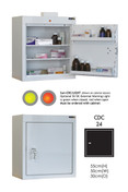 Buy Controlled Drug Cabinet with 2 Shelves/2 Trays, 1 Door - 66cm(H) x 50cm(W) x 30cm(D) - With Warning Light (SUN-CDC24/WL) sold by eSuppliesMedical.co.uk