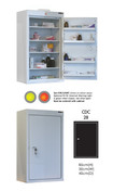 Buy Controlled Drug Cabinet with 4 Shelves/4 Trays, 1 Door - 85cm(H) x 50cm(W) x 45cm(D) - With Warning Light (SUN-CDC28/WL) sold by eSuppliesMedical.co.uk
