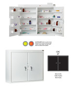 Buy Controlled Drug Cabinet with 8 Shelves/8 Trays, 2 Doors, 2 locks - 96cm(H) x 100cm(W) x 30cm(D) - With Warning Light (SUN-CDC27/WL) sold by eSuppliesMedical.co.uk