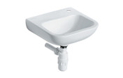 Buy HTM64 Vitreous China Washbasin - Wall / Panel Mounted - Large - Single tap hole, no plug, chain or overflow (Sun-SNK18) sold by eSuppliesMedical.co.uk