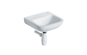 Buy HTM64 Vitreous China Washbasin - Wall / Panel Mounted - Medium - Single tap hole, no plug, chain or overflow (Sun-SNK17) sold by eSuppliesMedical.co.uk