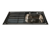 Buy Inset Stainless Steel Sink, LH Drainer, HTM64, 200mm Tap Centres (Sun-SNK25) sold by eSuppliesMedical.co.uk