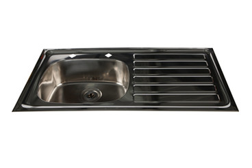 Buy Inset Stainless Steel Sink, RH Drainer, HTM64, 200mm Tap Centres (Sun-SNK24) sold by eSuppliesMedical.co.uk