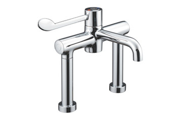 Buy Thermostatic Deck Mounted Sequential Mixer (160mm projection) 200mm centres, HTM64, Single Elbow Lever (Sun-TAP13) sold by eSuppliesMedical.co.uk