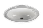 Buy Vitreous China Inset Washbasin. 200mm Tap centres (Sun-SNK30) sold by eSuppliesMedical.co.uk