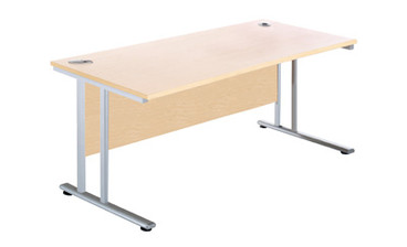 Buy Rectangular Narrow Desk, 600deep, 1800mm wide (Sun-DESK2/180) sold by eSuppliesMedical.co.uk