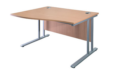 Buy Wave Desk, 1600mm wide, left hand (SUN-DESK7/160) sold by eSuppliesMedical.co.uk