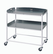 Dressings Trolley  2 Stainless Steel Trays