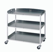 Dressings Trolley  3 Stainless Steel Trays