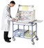 Buy Large Ward Drug Trolley, 2 plastic storage trays, Divider system (SUN-WDT50) sold by eSuppliesMedical.co.uk