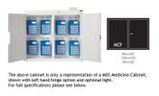 Buy Medicine Cabinet  85cm(H) x 100cm(W) x 30cm(D) - With Light - 8 MDS Rack (SUN-MC9/WL/MDS8) sold by eSuppliesMedical.co.uk