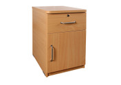 Buy Bedside Cabinet, 1 drawer, 1 Door - Beech (SUN-CBBC2/MFC/LOCK) sold by eSuppliesMedical.co.uk