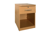 Buy Bedside Cabinet, 1 drawer, open - Beech (SUN-CBBC1/MFC/LOCK) sold by eSuppliesMedical.co.uk