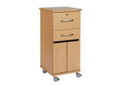 Buy NHS Bedside cabinet, 2 locking drawers, bottom saloon doors, lfmdf material (SUN-CBHBC1/LFMDF/LOCKS) sold by eSuppliesMedical.co.uk