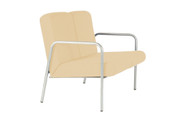 Easy-Chair, 2 seater, Arms, Vinyl, 430mm Seat Height