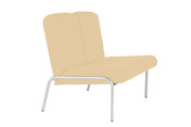 Easy-Chair, 2 seater, No Arms, Vinyl, 430mm Seat Height