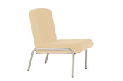 Easy-Chair, No Arms, Vinyl. 430mm seat height