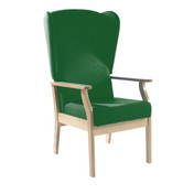Patient High-Back Arm Chair with Wings, Vinyl (Multibuy)