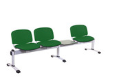 Venus Visitor 4 Seat Module, 3 Seats & 1 Table, Intevene Anti-bacterial Upholstery - 12 Colours